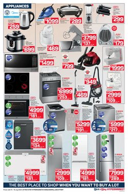Defy specials in Pick n Pay Hypermarket