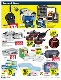 Frying pan specials in Pick n Pay Hypermarket