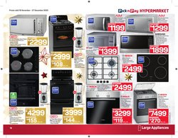 Gas stove specials in Pick n Pay Hypermarket
