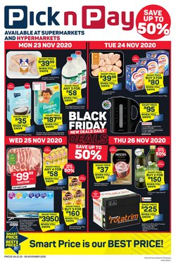 christmas tree offers in the Pick n Pay Hypermarket catalogue ( Expires tomorrow)
