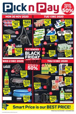 Pick n Pay Hypermarket catalogue ( 1 day ago)