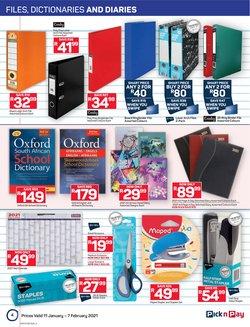 Calendar specials in Pick n Pay Hypermarket