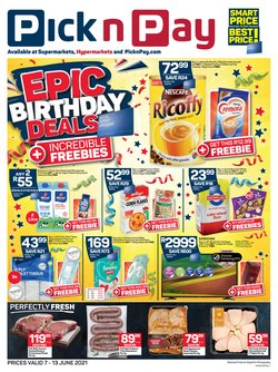 Groceries offers in the Pick n Pay Hypermarket catalogue ( Expires tomorrow)