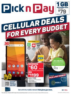 tablet offers in the Pick n Pay Hypermarket catalogue ( More than a month)