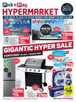 Pick n Pay Hypermarket offers in the Pick n Pay Hypermarket catalogue ( Expires tomorrow)