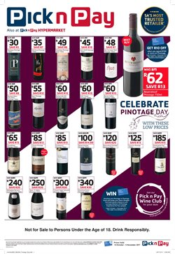 Wine offers in the Pick n Pay Hypermarket catalogue in Cape Town