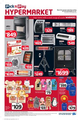 Bed offers in the Pick n Pay Hypermarket catalogue in Cape Town