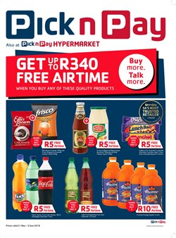 Juice offers in the Pick n Pay Hypermarket catalogue in Cape Town