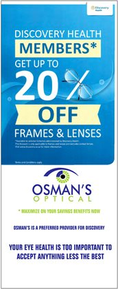 Beauty & Pharmacy offers in the Osman's Optical catalogue in Pretoria ( 16 days left )