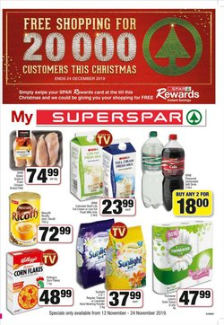 SuperSpar deals in the Pretoria special