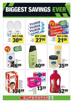 Sanitary pads specials in SuperSpar
