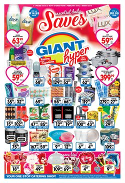 Valentine's Day offers in the Giant Hyper catalogue in Cape Town