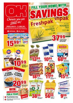 Groceries offers in the OK Foods catalogue ( Expires tomorrow)