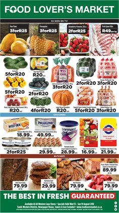 Furniture offers in the Food Lover's Market catalogue in Cape Town