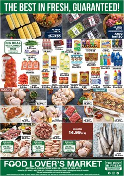 Groceries offers in the Food Lover's Market catalogue in Durban ( Published today )