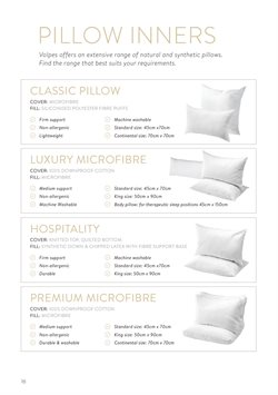 Pillow specials in Volpes
