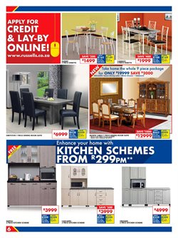 Living room offers in the Russells catalogue in Cape Town