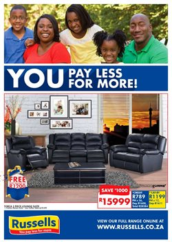 Home & Furniture offers in the Russells catalogue in Port Elizabeth