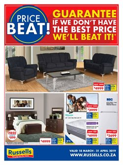 Home & Furniture offers in the Russells catalogue in Stellenbosch