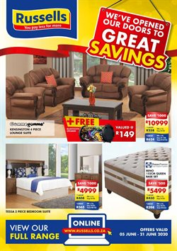 Home & Furniture offers in the Russells catalogue in Pretoria ( 2 days ago )