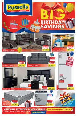 Home & Furniture offers in the Russells catalogue ( 7 days left)