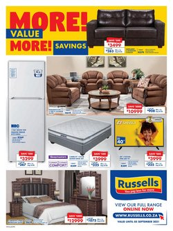 Home & Furniture offers in the Russells catalogue ( 1 day ago)