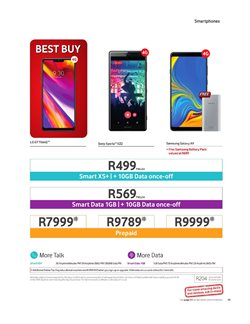 Sony smartphones offers in the Vodacom catalogue in Cape Town