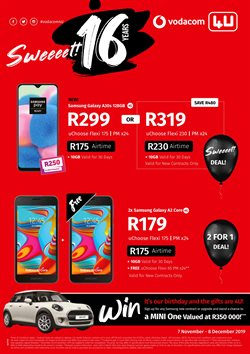 Vodacom deals in the Johannesburg special