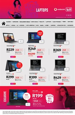 Acer specials in Vodacom