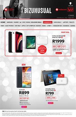 IPhone SE specials in Vodacom