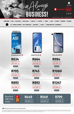 IPhone XR specials in Vodacom