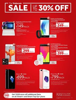 Tablet offers in the Vodacom catalogue in East London