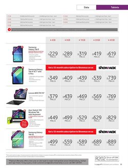 Acer tablet offers in the Vodacom catalogue in Cape Town