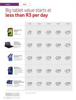 Tablet offers in the Vodacom catalogue in Soweto