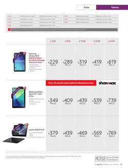 Lenovo tablet offers in the Vodacom catalogue in Cape Town