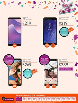 Sony smartphones offers in the Cell C catalogue in Cape Town