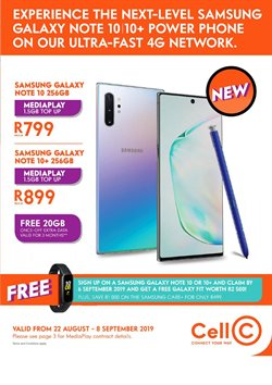 Electronics & Home Appliances offers in the Cell C catalogue in Cape Town