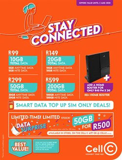 Cell C catalogue in Port Elizabeth ( 3 days ago )