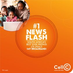 Electronics & Home Appliances offers in the Cell C catalogue ( 3 days left)