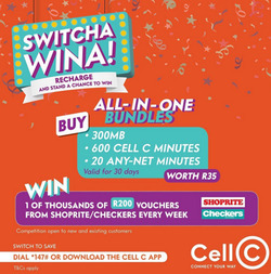 Cell C coupon in Cape Town ( 4 days left )