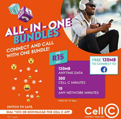 Cell C coupon in Cape Town ( 6 days left )