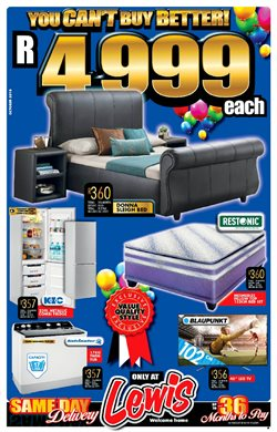 Home & Furniture offers in the Lewis catalogue in Port Elizabeth