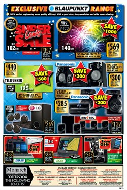 Tablet offers in the Lewis catalogue in Cape Town