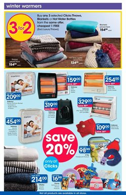 Bedroom offers in the Clicks catalogue in Cape Town