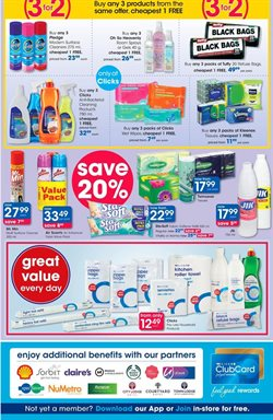 Fabric softener offers in the Clicks catalogue in Cape Town