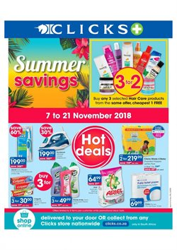 Clicks deals in the Johannesburg special