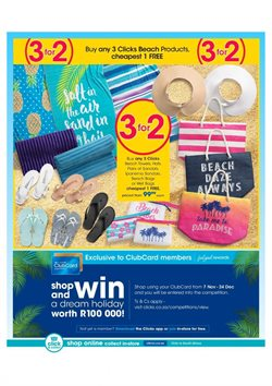 Footwear offers in the Clicks catalogue in Rustenburg