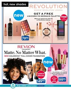 Makeup offers in the Clicks catalogue in Cape Town