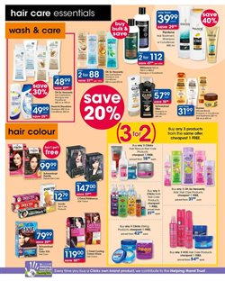 Shampoo offers in the Clicks catalogue in Cape Town