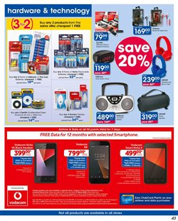 Smartphones offers in the Clicks catalogue in Soweto